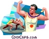 Wrestling Vector Clipart illustration