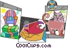 Assorted Metaphors Vector Clipart graphic