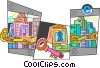 Online Transactions Vector Clip Art graphic