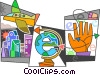 Vector Clipart image  of a Online Transactions
