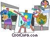 painters Vector Clipart graphic
