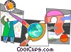 Assorted Metaphors Vector Clip Art graphic