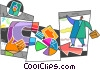 Vector Clipart illustration  of a Charting Success