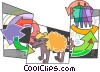 Vector Clipart image  of a Scientists and Researchers