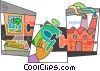 Vector Clipart picture  of a Pieces of a Puzzle
