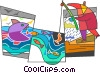 Fisherman Vector Clipart picture
