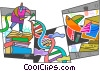 DNA Vector Clipart illustration