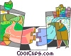 Vector Clip Art graphic  of a Puzzles