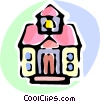 Vector Clip Art image  of a school house