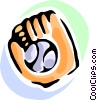 baseball glove and ball Vector Clipart picture