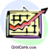 Charting Success Vector Clip Art graphic