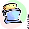 Vector Clip Art image  of a Toasters