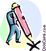 Vector Clip Art graphic  of a Pencils
