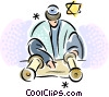 Vector Clip Art image  of a Scrolls and Parchment