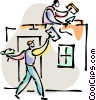 Vector Clip Art image  of a Painting and Renovation