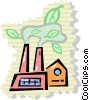 Factories and Refineries Vector Clip Art picture