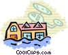 Floods Vector Clipart picture