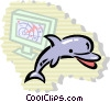 Vector Clip Art image  of a Dolphins