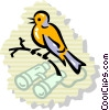 Vector Clipart illustration  of a Bird Watching