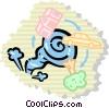 Vector Clip Art image  of a Tornadoes