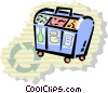 Vector Clipart illustration  of a Blue Boxes or Recycle Box
