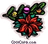Vector Clip Art graphic  of a Christmas Poinsettia