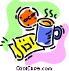 Vector Clipart image  of a morning coffee with the