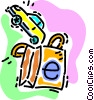 Vector Clip Art image  of a buying a car on line