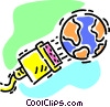 Vector Clip Art graphic  of a wired world