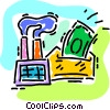 Vector Clipart picture  of a investing money in a company