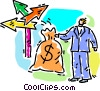 Vector Clipart picture  of a money where to invest