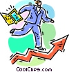 Vector Clip Art image  of a Charting success