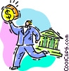 Vector Clip Art picture  of a bank loan concept