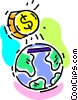 Vector Clip Art picture  of a money concept