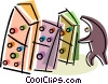 Vector Clip Art picture  of a Dominos