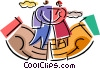 Vector Clipart picture  of a Couples and Romance