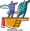 Vector Clip Art image  of a Teamwork and Cooperation