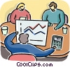 Vector Clip Art graphic  of a Charting Success