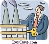 Vector Clipart illustration  of a Factories and Refineries