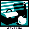 Vector Clip Art picture  of a Lunch