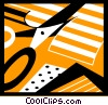 Vector Clip Art image  of a Scissors