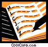 Vector Clipart graphic  of a 3-Ring Binders