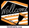Vector Clip Art graphic  of a Signs