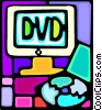 dvd drive Vector Clipart graphic