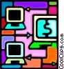 Vector Clip Art image  of a intranet concept