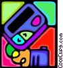 Vector Clipart illustration  of a pager