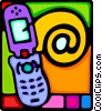 Vector Clipart picture  of a cellular phone