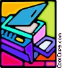 Vector Clip Art image  of a photocopier