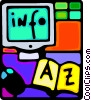 Vector Clipart picture  of a computer desktop system