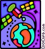 satellite communication Vector Clipart graphic